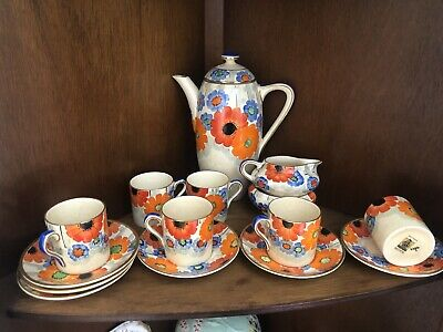 Vintage Hand Painted Gray's Pottery Set • 189£