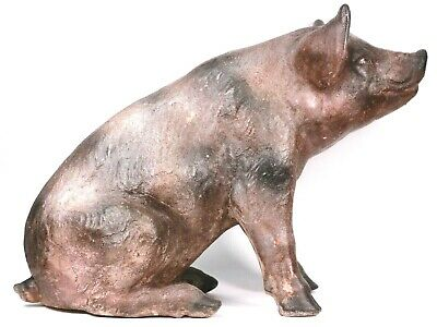Butchers Pottery Pig Large Figure 43 Cm Circa 1940 • 240£