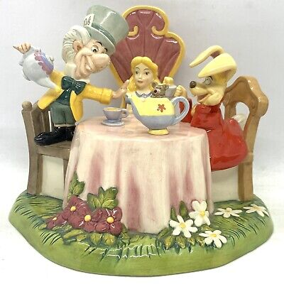 Royal Doulton Disney Showcase Mad Hatters Tea Party DM15 Limited Ed 423/1000 • 119.99£