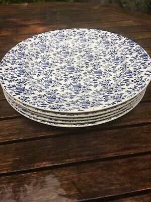 "Ironstone ICTC May Blossom Dinner Plate 9.5"" Blue White Vintage Staffordshire • 20£"