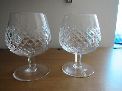 Waterford Alana Brandy Glass Snifter Balloon X 2 - Signed ......... FREE UK POST • 39.99£