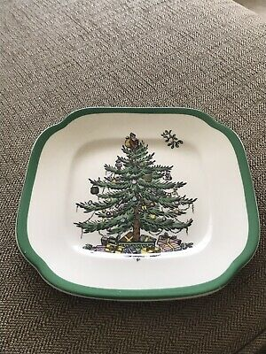 Spode CHRISTMAS TREE Square Bread & Butter Plate • 7£