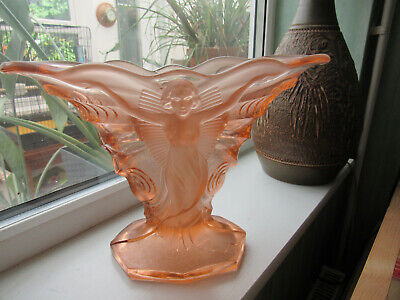 Walther Art Deco Smetterling Vase & Frog In Pink. • 130£