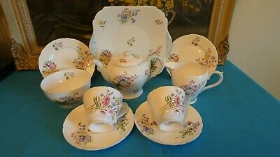 Delightful Shelley  Wild Flowers  Bone China Tea For Two Service - 1st Quality • 170£