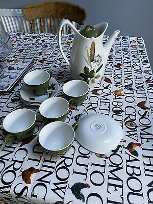 Midwinter Coffee Set Riverside Forest Green Leaves • 6.10£