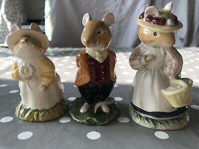 Royal Doulton Lord Lady Primrose Woodmouse Mouse Collection 3 Three • 0.99£