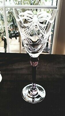 1 Tall Stunning Royal Brierley Crystal Bow Ribbon Star Wine Glass Goblet Flute 1 • 18£