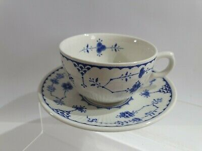 Furnivals Denmark Blue Tea Cup And Saucer Excellent Condition #6 • 3.50£