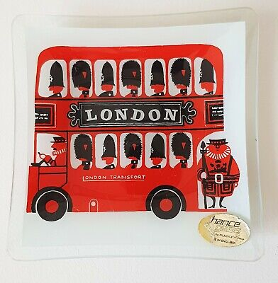 Chance Glass Dish Sights Of London  LONDON BUS.. Kenneth Townsend • 22£