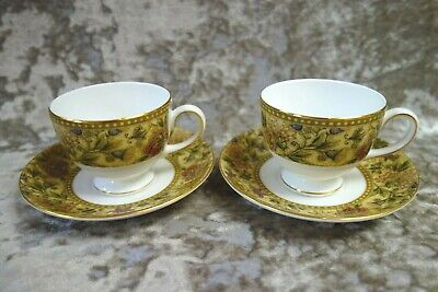 Wedgwood Floral Tapestry China Cup & Saucer X2 – Good Cond. • 20£