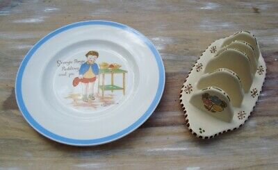 Vintage Midwinter Stylecraft Peggy Gibbons Nursery Childs Plate & Honiton Toast  • 12£