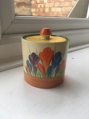 Clarice Cliff Crocus Preserve Pot • 115£