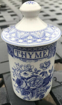 Spode Blue Room Thyme Spice Jar/Cylinder. 5 Inches Tall • 15£