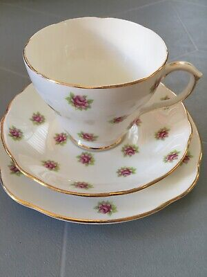 Duchess Melody Rose Bone China Trio Tea Cup Saucer And Side Plate • 4.50£