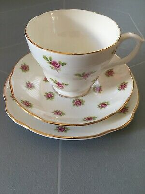 Duchess Rose Bone China Trio Tea Cup Saucer And Side Plate • 3.50£