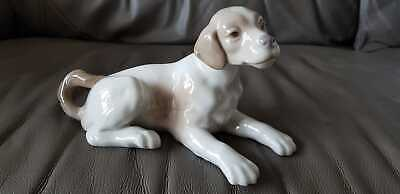 Lladro Nao Porcelain Figure Of A Lying Down Puppy Dog • 20£