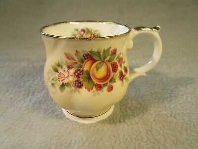 Vintage Pretty Queens Bone China Cup / Mug Decorative Bramble / Fruit Design  • 4.95£