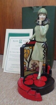 LTD ED KEVIN FRANCIS FIGURINE - CLARICE CLIFF - CENTRE STAGE - No 5 /500 - BOXED • 160£
