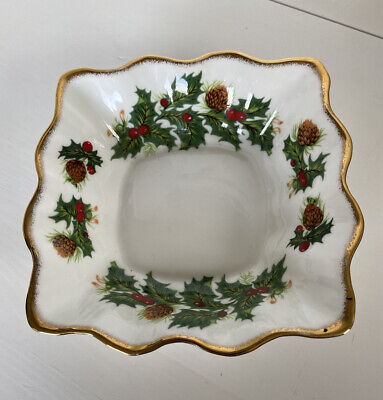 "Queens China ""Yuletide"" Vintage Nut/Candy Dish • 9.99£"