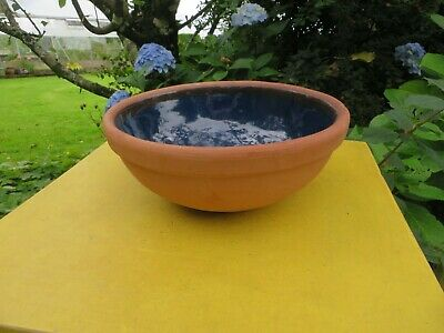 Earthenware & Blue Glazed Royal  Barum Ware Small Mixing Bowl • 9.95£