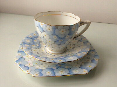 Stunning Art Deco Grafton China Phlox Tea Trio In Excellent Condition • 13.99£
