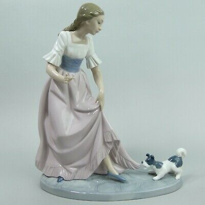 Lovely Lladro Nao Porcelain Girl & Playful Puppy Figurine • 68£