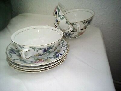 Booths Floradora Soup Bowls And Dishes X 4 • 17£