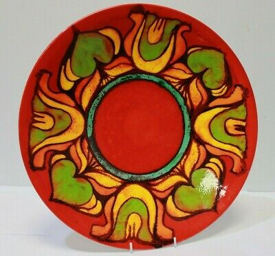 Poole Delphis Pattern Art Pottery Collectible 16  Wall Plate C1970 - 232 • 36£