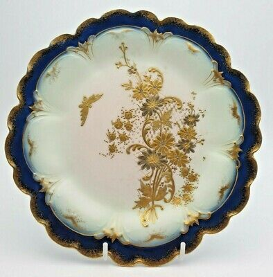 Fine Antique French Limoges Gda Gilded Plate • 14.99£