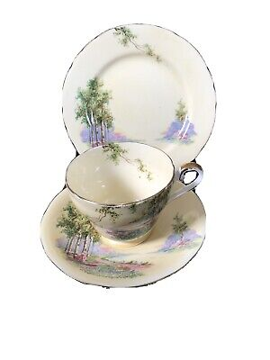 Aynsley Bluebell Wood Trio Cup, Saucer & Plate • 7.99£