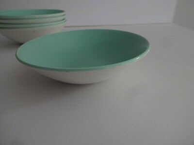 Poole Pottery Twintone Ice Green 6.25  Cereal/Soup Bowl-several Available • 5.99£