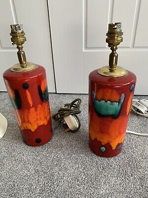 Pair Of Poole Pottery Lamp Bases • 77£