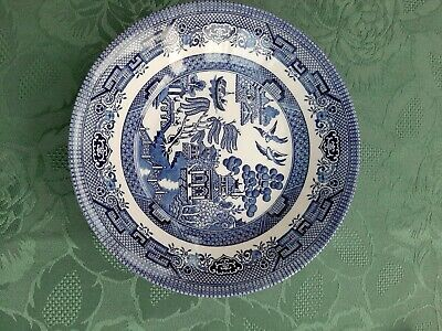 Willow Pattern Bowls Churchill Pottery 8 Inch Diameter X 5.  Perfect Condition. • 7.50£