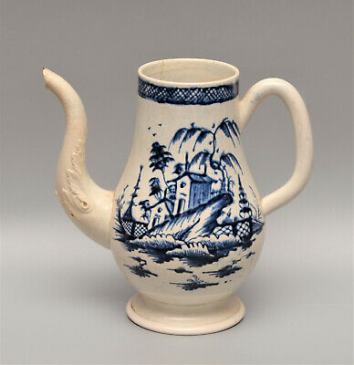 Rare EARLY Liverpool PEARLWARE C1770 Coffee Pot A/F • 10.50£