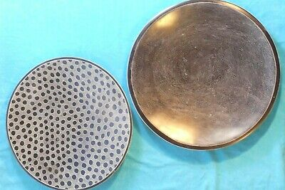 2 Large African Plates/Platters - One Marked 'Hand Made In Kenya' • 20£