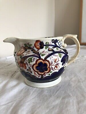 Antique 19th Century Gaudy Welsh Pottery Jug • 22.50£
