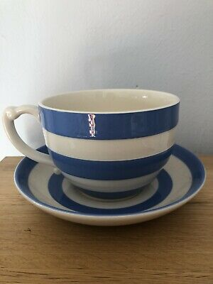 Cornishware Blue Tea Cup And Saucer • 20£