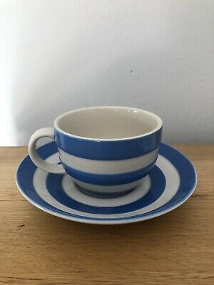 Cornishware Blue Small Teacup And Saucer • 10£