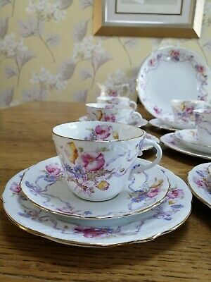 Gorgeous Vintage Aynsley Ribbons And Bows 30 Piece Tea Set • 22£