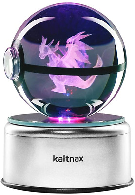 3D Cool Laser Etching Crystal Ball Night Light Gift Lamp For Kids Children • 37.88£