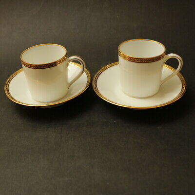 CH.HAVILAND 2x Coffee Cans / Cups & Saucers LIMOGES France -#59 - Beautiful  • 10£
