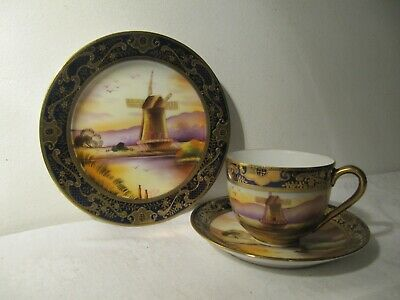 Oldmill China Noritake Style Japan Cup & Saucer Trio • 28.50£