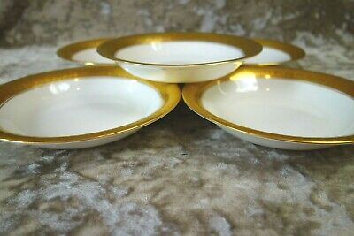 Royal Crown Derby St George Set Of X5 China Bowls – 16.5cm Wide • 80£
