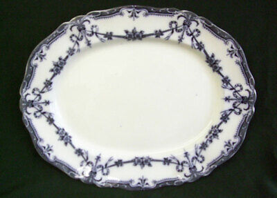 Large Antique Adderleys Oval Dish Plate Flow Blue Serving Meat Dish Alexis  • 29.50£