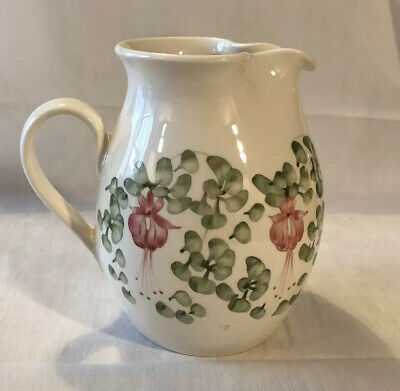 "NICE RYE CINQUE PORTS ART POTTERY MEDIUM FUSCHIA WATER JUG 7"" Inches High • 16£"