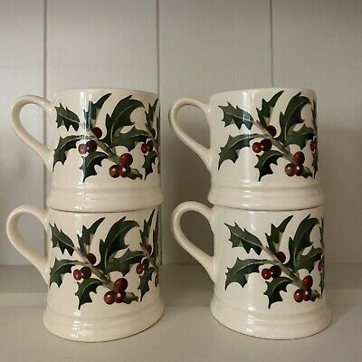 Emma Bridgewater Christmas HOLLY Espresso Mug 🎄made For NGS In 2009 1st Quality • 12.50£
