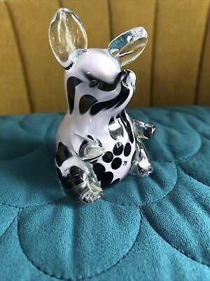 Marked Langham Glass Sitting Pig Ornament Excellent Condition • 24.99£