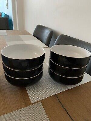 Quality Denby Jet  Cereal / Soup Bowl 6  Diameter 6 X Available  Good Condition • 6£
