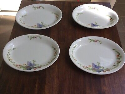 Preowned - 4 X J&G Meakin Libelle Marjolein Bastin Oval Plates • 10£