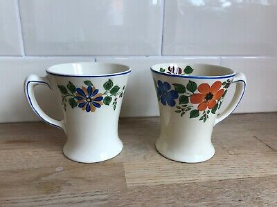 Fabulous Pair Of Adams Titian Ware Mugs Great Condition • 29.99£